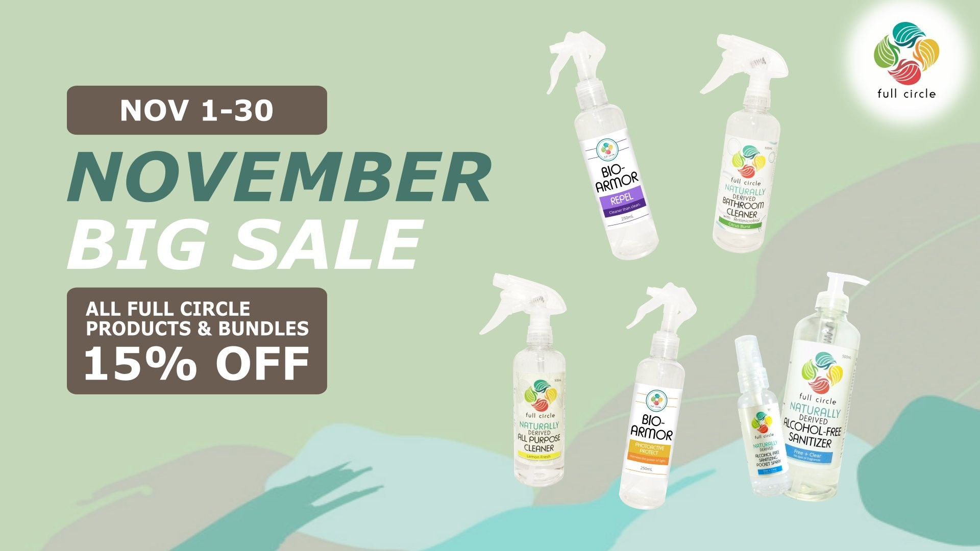 Full Circle November 2020 Month-Long Sale
